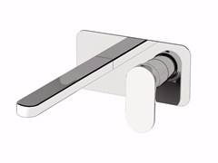 Miscelatore per lavabo a 2 fori con piastra SMILE 64 - 6410208 - Smile 64