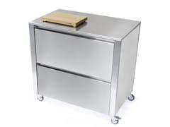 Modulo cucina freestanding in acciaio inox con cassetti669202 | Modulo cucina freestanding - JOKODOMUS