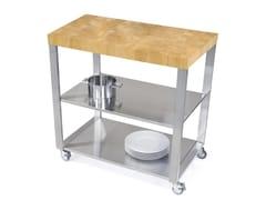 Modulo cucina freestanding in acciaio inox e legno669500 | Modulo cucina freestanding - JOKODOMUS