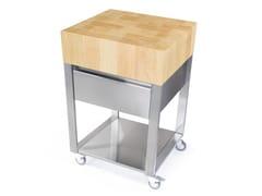 Modulo cucina freestanding in acciaio inox e legno679151 | Modulo cucina freestanding - JOKODOMUS