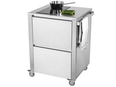 Modulo cucina freestanding in acciaio inox per piano cotturaCUN INDUCTION - JOKODOMUS