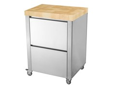 Modulo cucina freestanding in acciaio inox e legno679521 | Modulo cucina freestanding - JOKODOMUS
