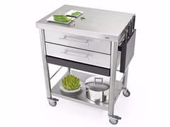 Modulo cucina freestanding in acciaio inox con cassetti687702 | Modulo cucina freestanding - JOKODOMUS