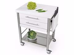 Modulo cucina freestanding in acciaio inox con maniglieAUXILIUM 690702 | Modulo cucina freestanding - JOKODOMUS