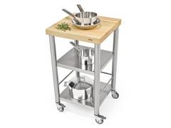 Carrello da cucina in acciaio inox e legnoAUXILIUM 692500 | Carrello da cucina - JOKODOMUS