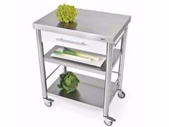 Modulo cucina freestanding in acciaio inox e CorianAUXILIUM 694701 | Modulo cucina freestanding - JOKODOMUS