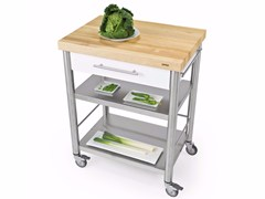 Modulo cucina freestanding in acciaio inox e legnoAUXILIUM 695701 | Modulo cucina freestanding - JOKODOMUS