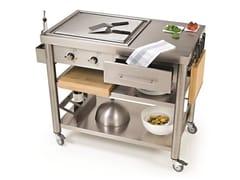 Modulo cucina freestanding con piastra teppanyaki 697110   Modulo cucina freestanding - Auxilium