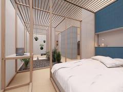 Sistema modulare componibile in legno per zona notte6x6 - NIGHT - CESARE ROVERSI