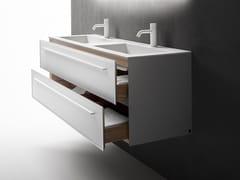Mobile lavabo doppio sospeso con cassetti 7.0 | Mobile lavabo doppio - 7.0