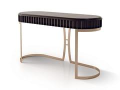 Consolle ovale in legno e base in metallo7014 | Consolle - BELLANI