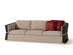 Divano in nabuk a 4 posti con struttura in legno7539 | Divano - BELLANI