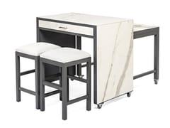 Bancone cucina con tavolino removibile e sedie7651 | Tavolo con ruote - BUYING & DESIGN