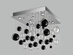 Lampada da soffitto in vetro soffiato BOLERO 80x80 - Bolero
