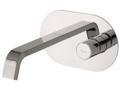 Miscelatore per lavabo a muro in ottone senza scarico 83055 | Miscelatore per lavabo a muro - Minù
