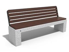 Panchina in calcestruzzo con schienale84 | Panchina in calcestruzzo - ENCHO ENCHEV - ETE