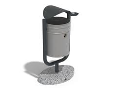 Portarifiuti in metallo con portacenere per esterni90 | Portarifiuti in metallo - ENCHO ENCHEV - ETE