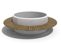 Panchina circolare in calcestruzzo con fioriera integrata92 | Panchina con fioriera integrata - ENCHO ENCHEV - ETE