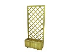 Pannello grigliato in legno con fioriera95556 | Pannello con fioriera - FERRITALIA