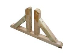 Piedino doppio in legno per pannelli95657 | Piedino per pannelli - FERRITALIA