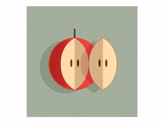 Stampa su carta A COUPLE OF APPLE - ANDRE BRIK