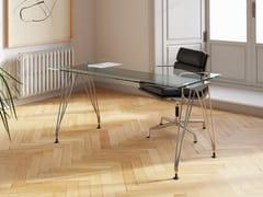 Scrivania rettangolare in vetroA1 HOME OFFICE | Scrivania in vetro - BK CONTRACT EQUIPMENT