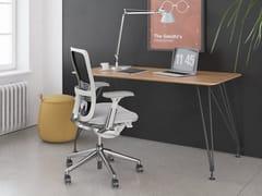 Scrivania rettangolare in legno impiallacciatoA1 HOME OFFICE | Scrivania in legno impiallacciato - BK CONTRACT EQUIPMENT