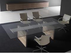 Tavolo da riunione rettangolare con top in vetroA2 MEETING | Tavolo da riunione in vetro - BK CONTRACT EQUIPMENT