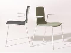 Sedia imbottita in tessuto con braccioli AAVA | Sedia con braccioli - Aava