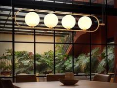 Lampada a sospensione in vetro opaleABBACUS | Lampada a sospensione - AROMAS DEL CAMPO