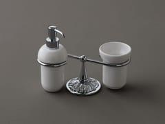 Dispenser sapone / portaspazzolino in ceramicaDECOR | Portaspazzolino - BLEU PROVENCE