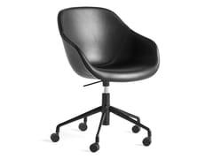Sedia imbottita ad altezza regolabile con ruoteABOUT A CHAIR AAC153 - HAY