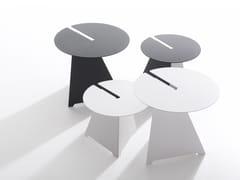 Tavolino rotondo in acciaioABRA - B-LINE