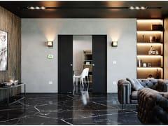 Ermetika, ABSOLUTE ENERGY doppio Controtelaio porta filo muro con predisposizione punti luce