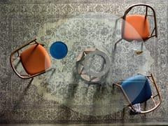 Tavolo rotondo in legno e vetroACCO | Tavolo in legno e vetro - MINIFORMS