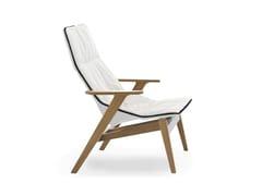 Poltrona imbottita in legno design con braccioli con schienale alto ACE WOOD   Poltrona con braccioli - Ace