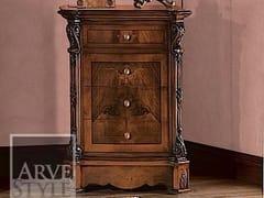 Comodino in legno massello con cassettiACHILLE | Comodino - ARVESTYLE