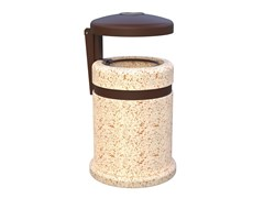 Portarifiuti in cemento con portacenere per esterniACHILLE - LAZZARI SRL