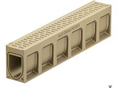 Canale di drenaggio in calcestruzzo polimericoACO DRAIN® MONOBLOCK PD100 V - ACO PASSAVANT