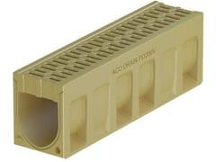 Canale di drenaggio in calcestruzzo polimerico ACO DRAIN® MONOBLOCK PD200 V - ACO DRAIN® Monoblock