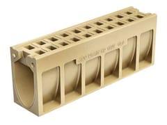 Canale di drenaggio in calcestruzzo polimericoACO DRAIN® MONOBLOCK RD 150 V - ACO PASSAVANT
