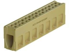 Canale di drenaggio in calcestruzzo polimericoACO DRAIN® MONOBLOCK RD100 V - ACO PASSAVANT