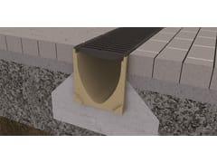 Elemento e canale di drenaggio in calcestruzzo polimericoACO Self® Euroline 200 - ACO PASSAVANT