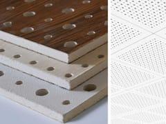 Pannelli per controsoffitto acustico effetto legnoWOODEN STAR GYPS - AKIFIX