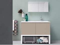 Mobile lavanderia laccato con lavatoioACQUA E SAPONE COMP. 5 - BIREX