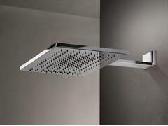 Soffione doccia a muro rettangolare in acciaio inox con 2 gettiACQUAFIT 38 K032B+K031A | Soffione doccia rettangolare - FANTINI RUBINETTI