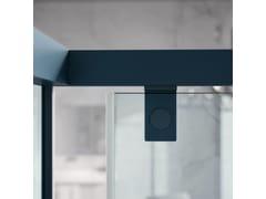 Box doccia con porta scorrevole a due ante e parete fissaACRUX   Box doccia con porta scorrevole - SAMO