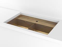 Lavello a 2 vasche da incasso sottotop in metalloACSUNDADI | Lavello sottotop - OFFICINE GULLO