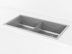 Lavello a 2 vasche da incasso in metalloACSTOPBDI | Lavello a 2 vasche - OFFICINE GULLO