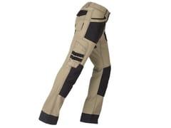 KAPRIOL, ACTIVE BEIGE/NERO Pantalone elasticizzato slim